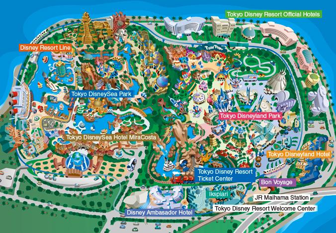 tokyo disney map