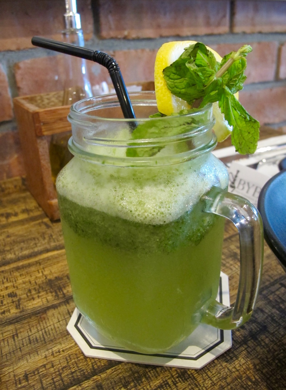homemade lemonade mint juice byblos