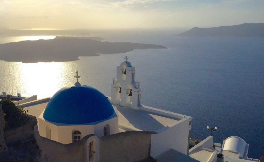 Oia santorini greece firostefani sunset