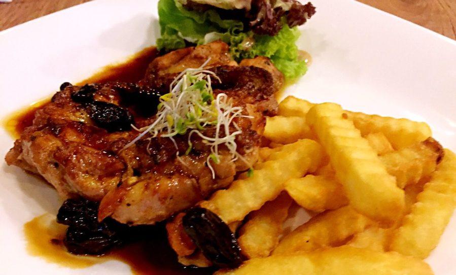 char-grilled chicken thigh brazza