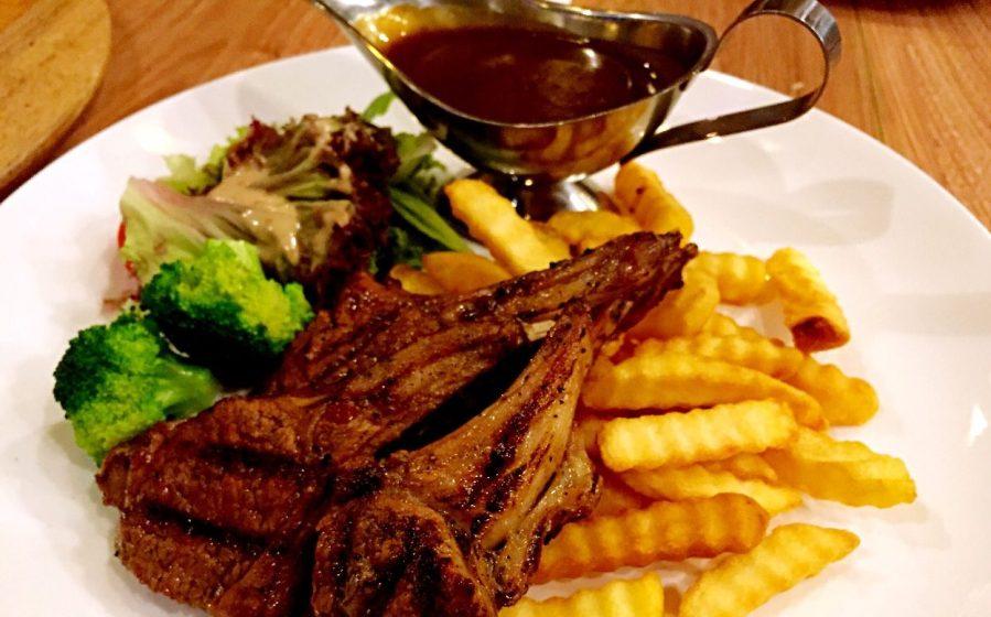 char-grilled NZ lamb rack Brazzo