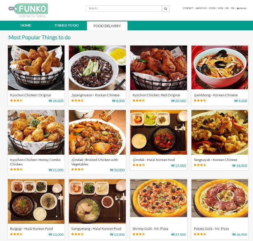 funko food delivery halal jajjangmyeon Seoul