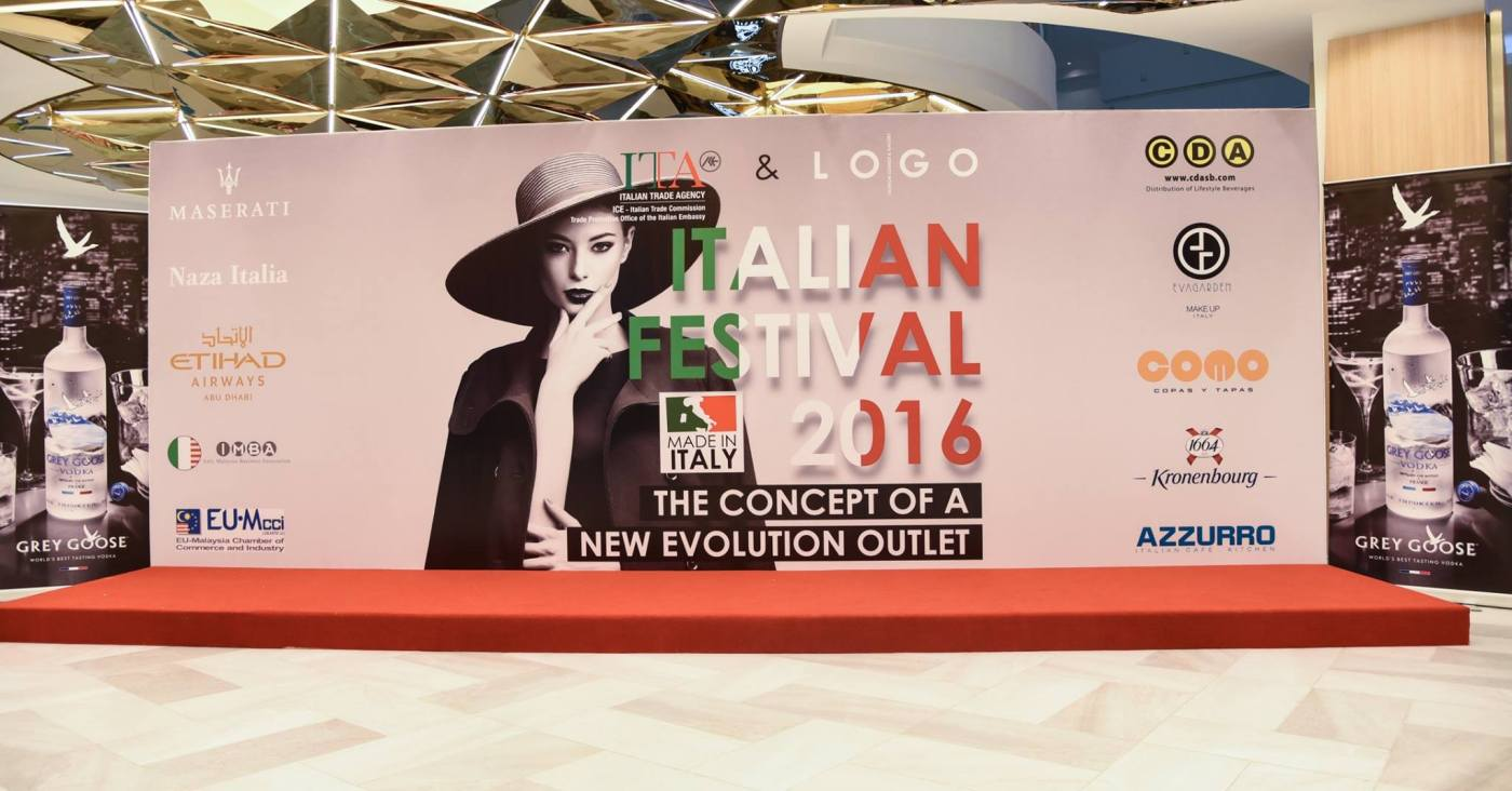 LOGO Fashion Lounge & Gallery Italian Festival 2016 Evolve Concept Mall