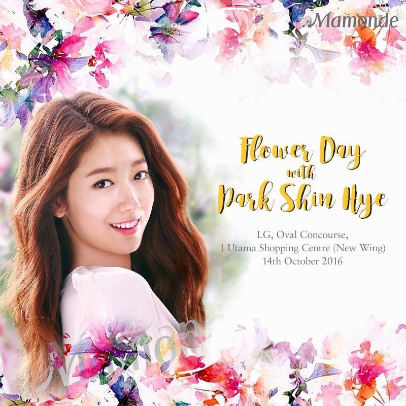 park shin hye mamonde malaysia 2016 flower day