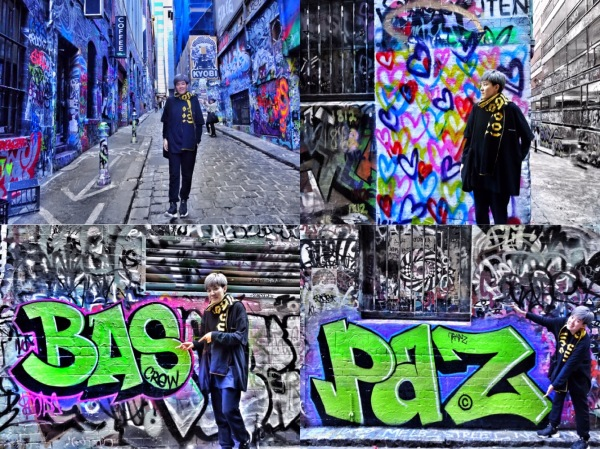 One day in Melbourne City Hosier Street Art