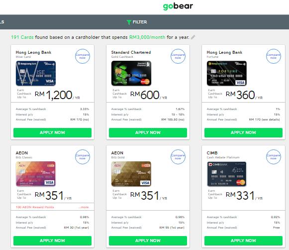 GoBear Best Credit Cards Personal Loan