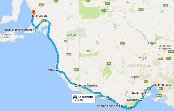 Melbourne to Adelaide Great Ocean Road Self Driving