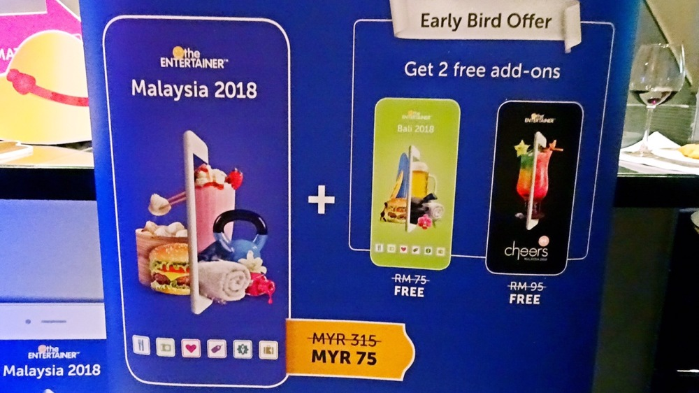 The Entertainer Malaysia 2018 early bird promo price